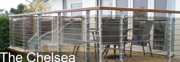 Balconies with Stainless Steel Railings and Hardwood handrails