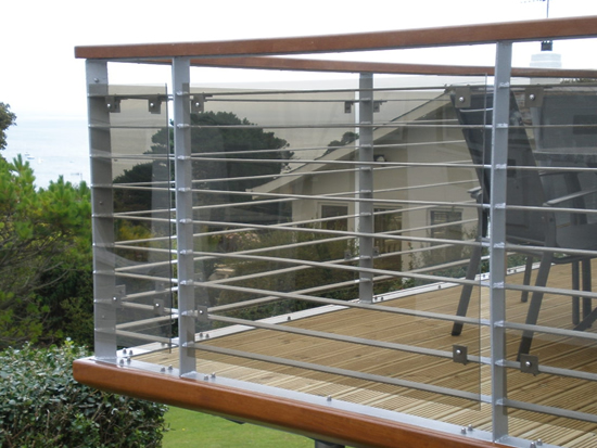 Steel balconies balcony with steel railings the for Terrace tubular design