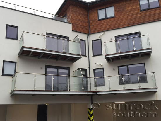 Glass Balconies and Balustrades for a range of Flats in New Maldon London