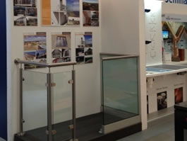 Sunrock balconies stand at the National Self Build & Renovation Centre in Swindon