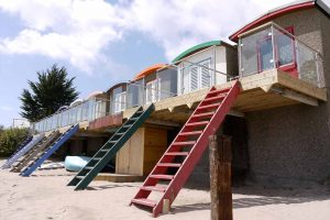 abersoch beach huts glass balconies