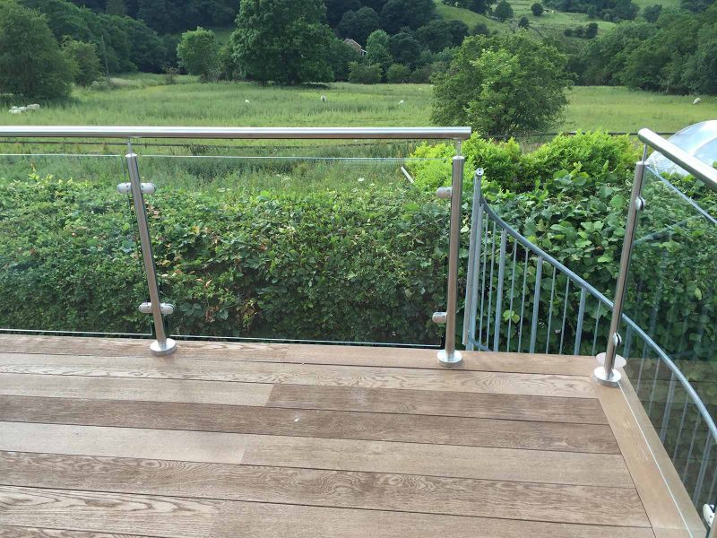 balcony glass stainless steel balustrades composite decking