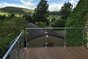 balcony glass stainless steel high peak district