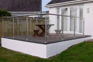balcony glass steel balustrades abersoch
