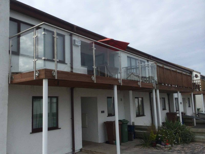 Sunrock Barbican Glass and Steel Balcony face fixed