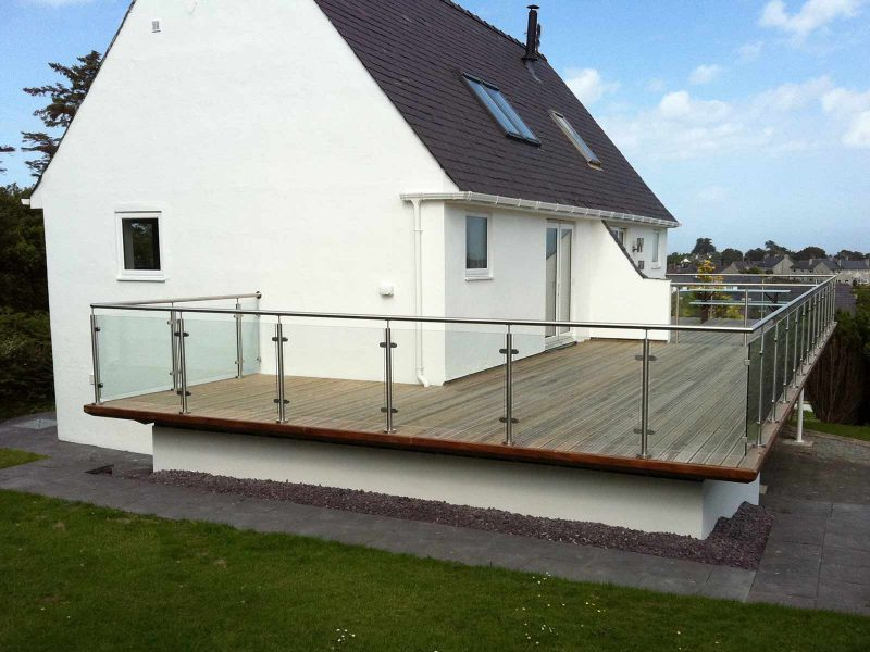 glass steel balcony cae du abersoch
