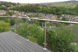 glass steel balcony pennines