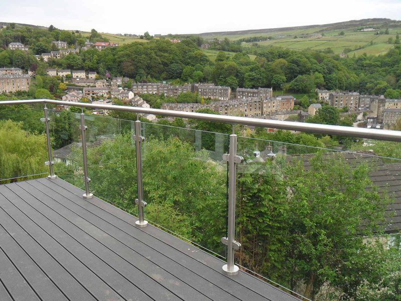 glass steel balcony pennines