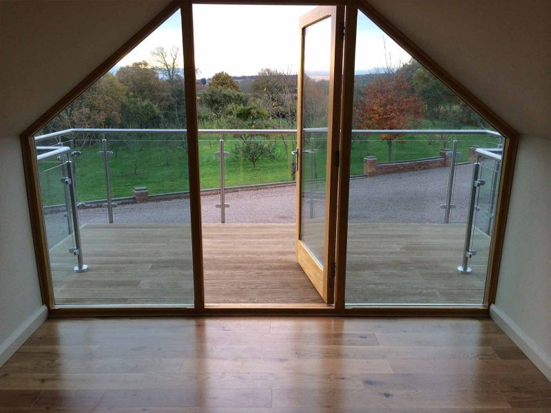 glass steel balcony worcestershire