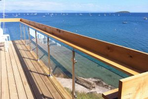 glass steel balcony yacht club abersoch