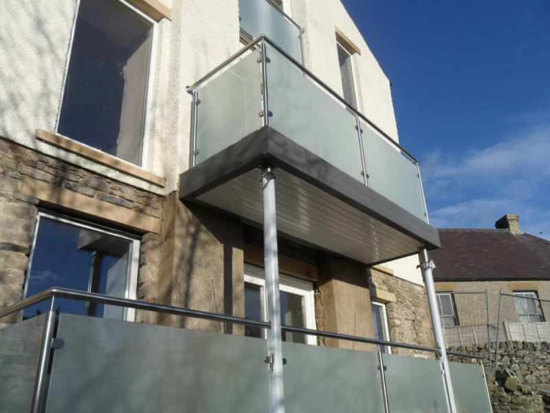 opaque glass steel balconies yorkshire