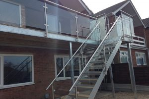 sunrock barbican balcony and stairs with privacy screen
