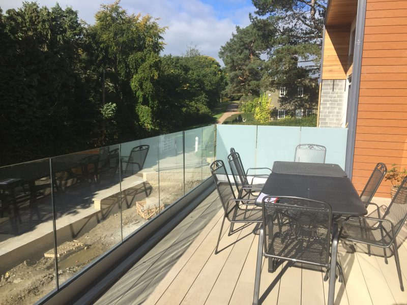 Infinity Glass Balustrade on top of aluminium capping