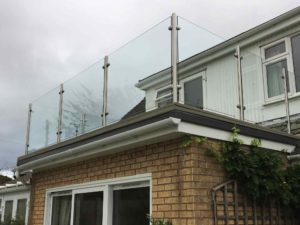 after glass steel balustrades
