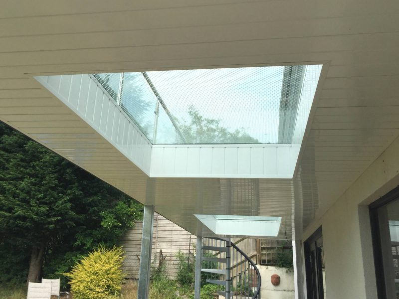 balcony glass floor panels
