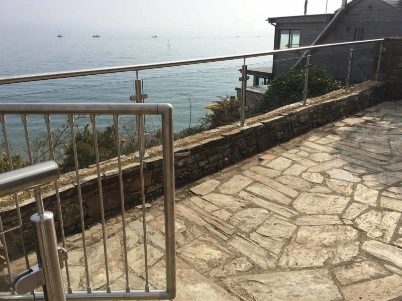 steel balcony gate