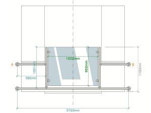 drawing design bespoke juliet balcony