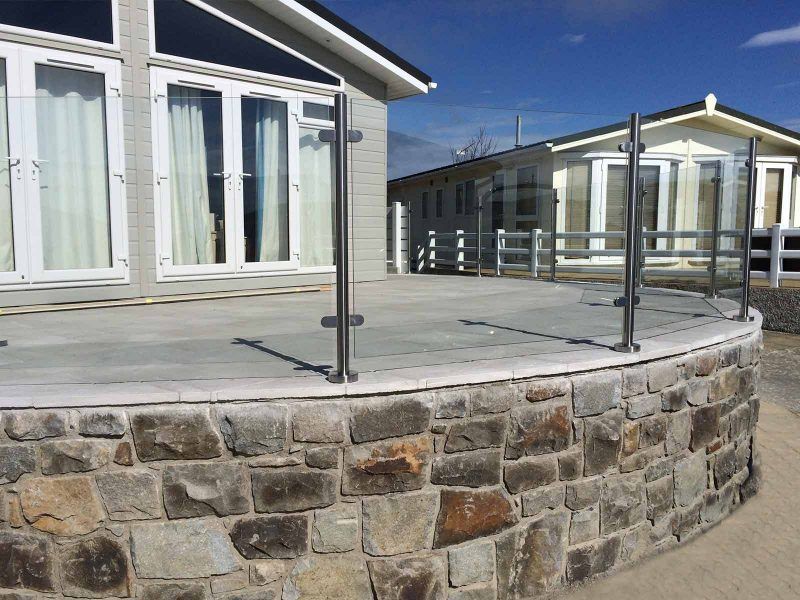 curved balustrades glass stainless steel