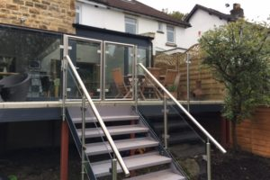 double glass steel balcony gates