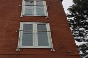 glass stainless steel juliet balconies