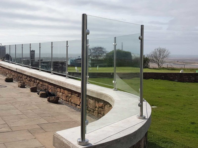 glass & stainless steel balustrade