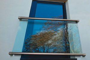 Juliet Glass Infinity Balconies with handrail - The Hanley