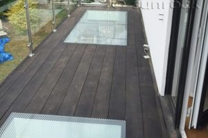 balcony decking glass floor panel inserts