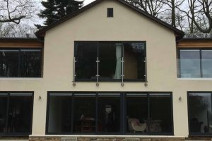 slimline juliet balcony glass steel
