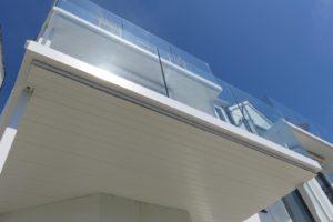 balcony frame under cladding