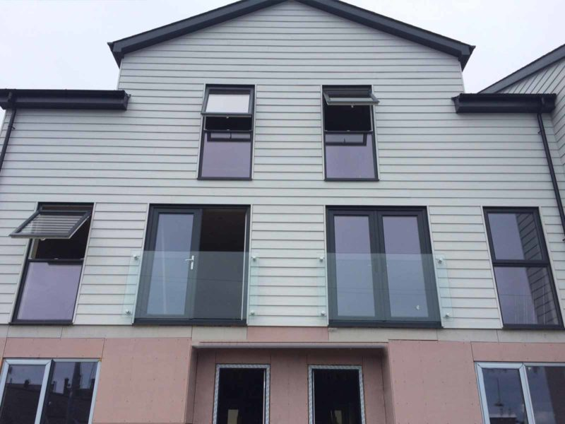 pair infinity glass juliet balconies pwllheli