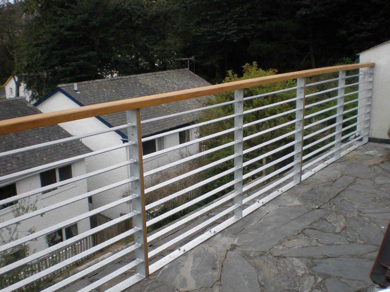 Steel Balustrade | Galvanized Steel Slatted Railings