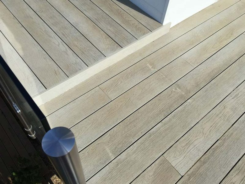 Balcony decking on two levels