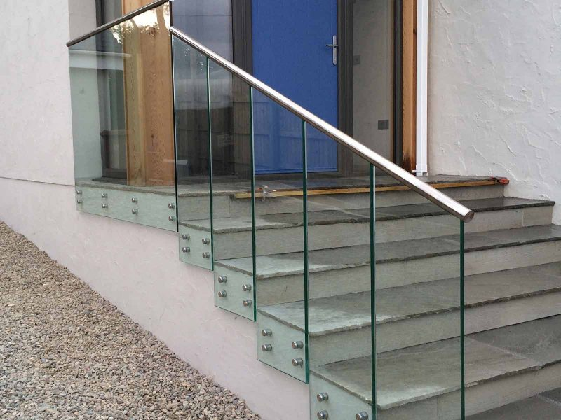glass balustrades for steps