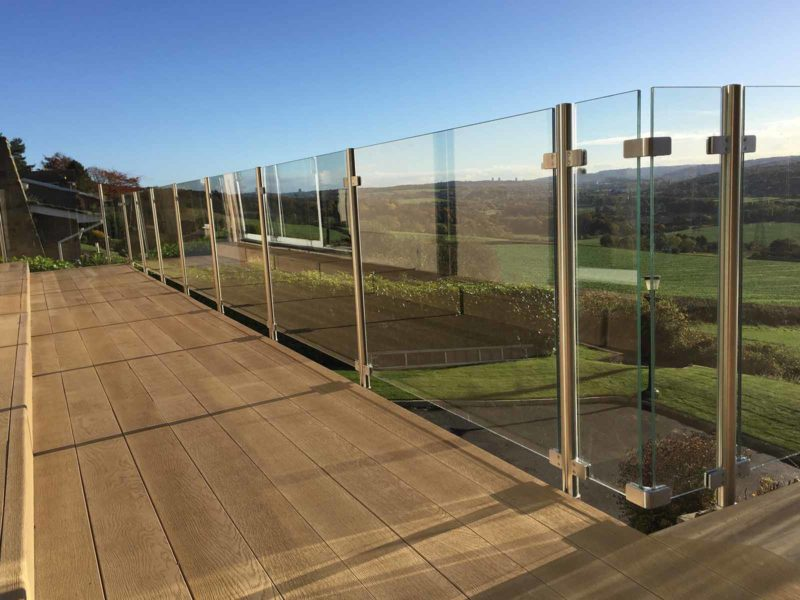 Barbican glass steel balustrades north east