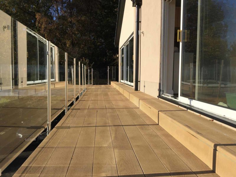 glass steel balustrades north east