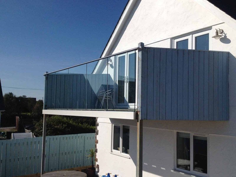 Sunrock Infinity glass balustrades Mynytho North Wales
