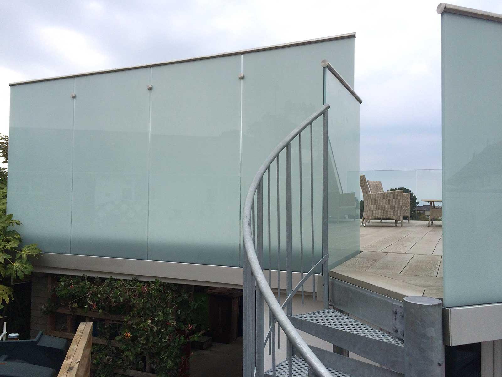 Balcony spiral staircase sunrock balconies for Balcony privacy