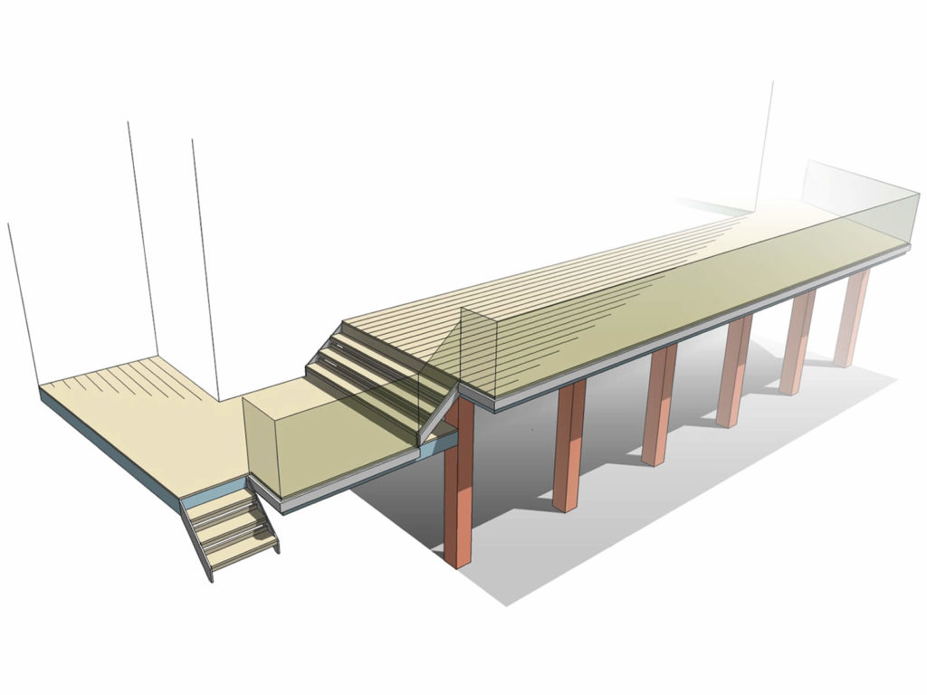 design drawing longest glass balcony bolton