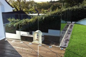Infinity Glass Balustrades North Wales pizza oven