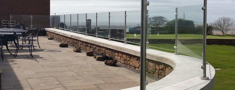 Glass balustrades in the Lake District