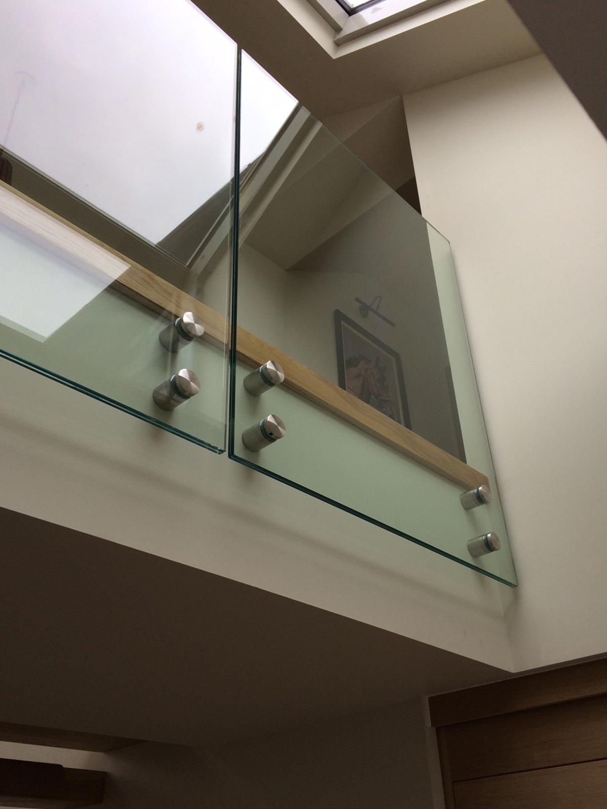 mezzanine glass balustrades