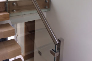 staircase glass balustrade steel handrail