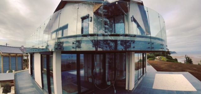 curved glass balustrades
