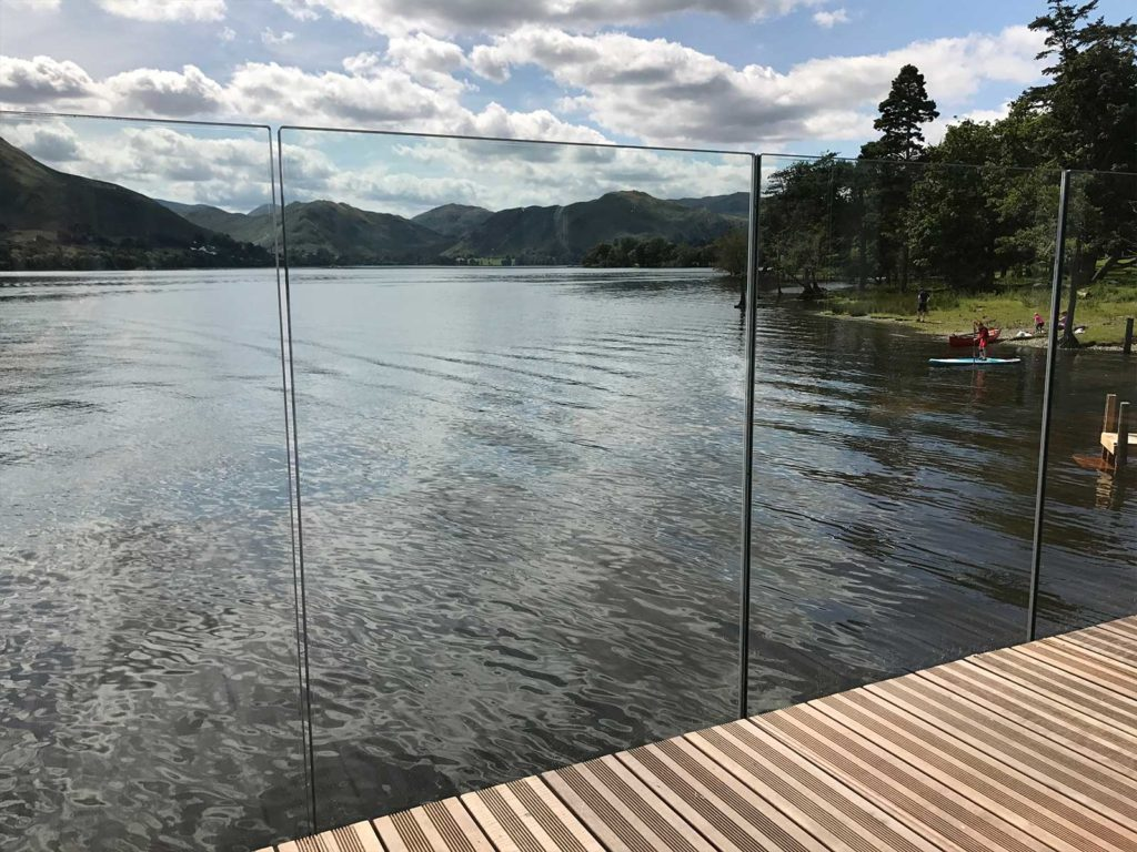 infinity glass balustrade ullswater