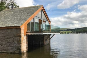 ullswater boat house glass balustrades