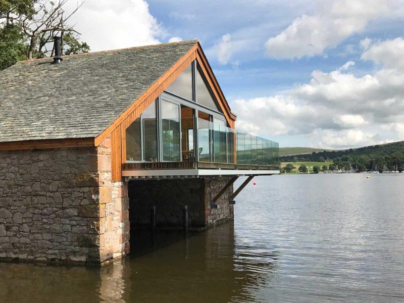 ullswater boat house glass balustrades