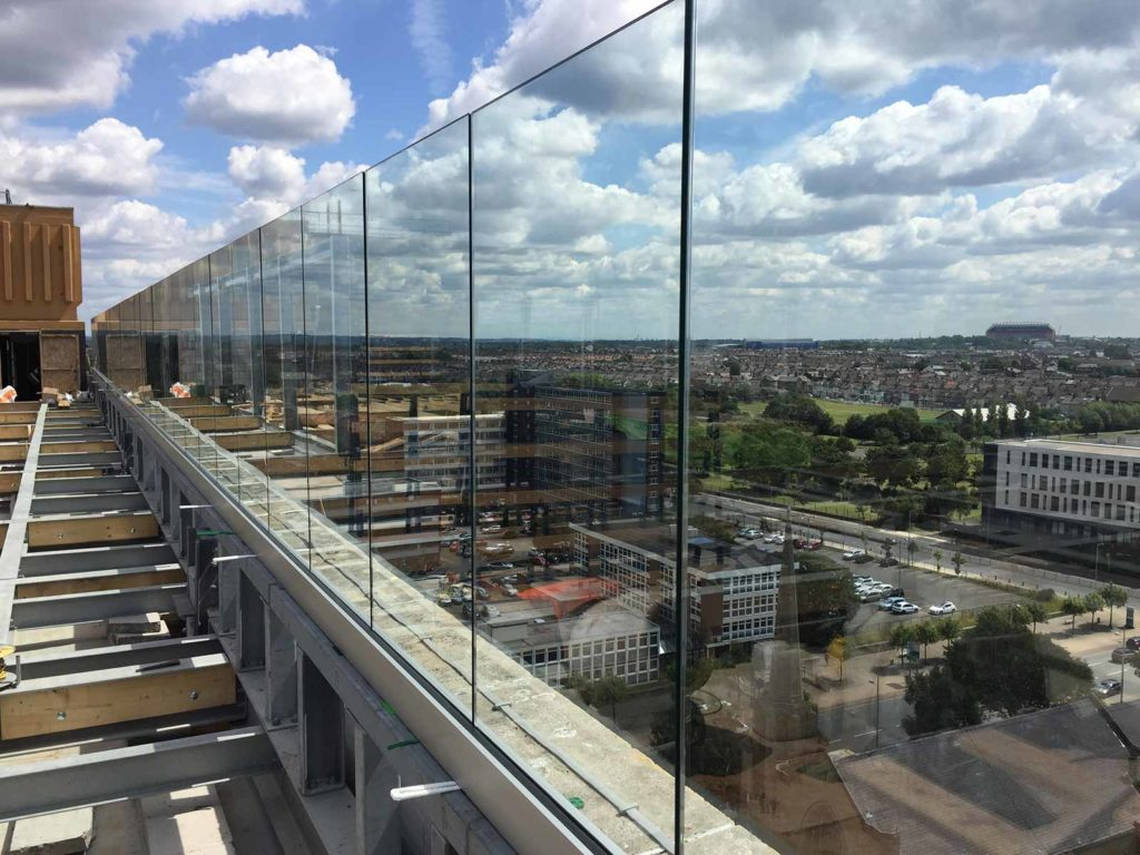 rooftop glass balustrades Liverpool Signature Living