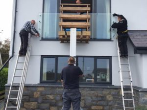 installing glass juliet balcony
